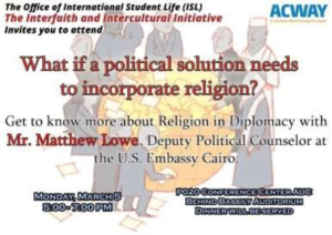"""Round Table """"Religion in Diplomacy"""""""